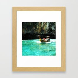 Sea view in Karbi Thailand. Framed Art Print