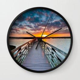 Bolsa Chica Wetlands Sunrise  6/18/14 Wall Clock