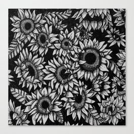 Black and white flower canvas prints society6 sunflowers canvas print mightylinksfo