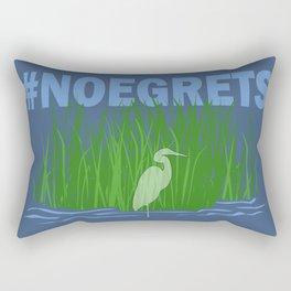 No Egrets Rectangular Pillow