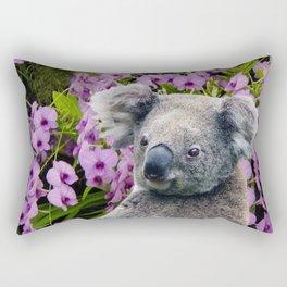 Koala and Coocktown Orchids Rectangular Pillow