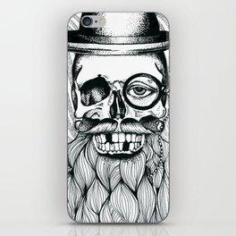 Mr. Skull Beard iPhone Skin