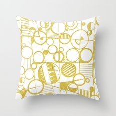 Golden Doodle circles Throw Pillow
