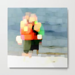 Two Boys at the Beach Metal Print