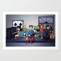 justice league Art Prints featuring Jazzy Justice League by joshisterrific