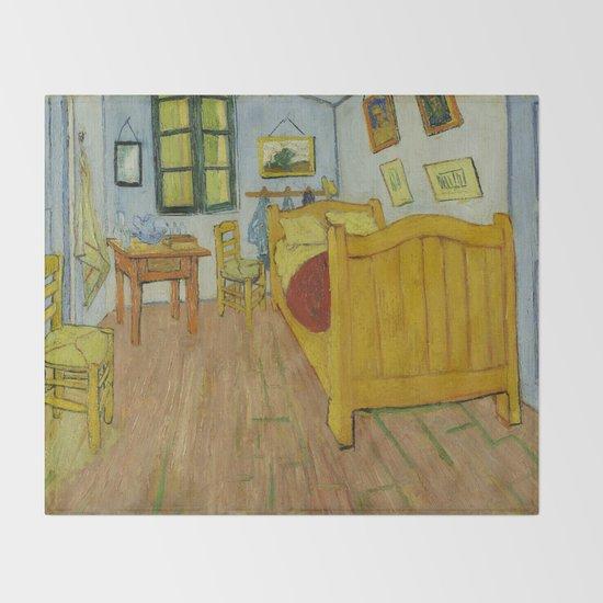 Bedroom in Arles by Vincent van Gogh Throw Blanket by Palazzo Art ...