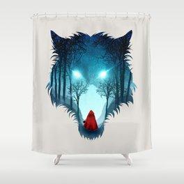 Big Bad Wolf (light version) Shower Curtain