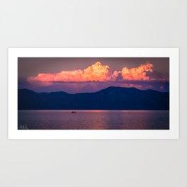 A Tahoe Sunset Art Print