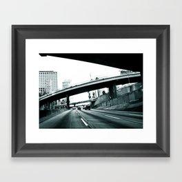 Los Angeles Hue Framed Art Print