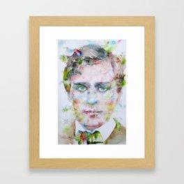 HENRY JAMES - watercolor portrait Framed Art Print