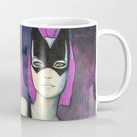 batgirl Mugs featuring Batgirl by whodrewthefox