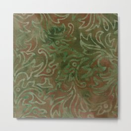 Forest Batik 02 Metal Print