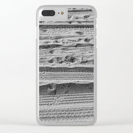 Sand Tracks Clear iPhone Case