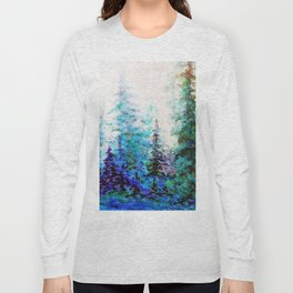 BLUE MOUNTAIN PINES LANDSCAPE Long Sleeve T-shirt
