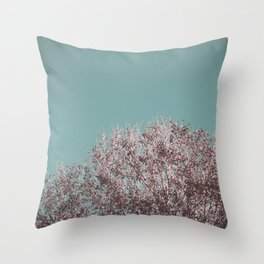 Drying leaves Throw Pillow