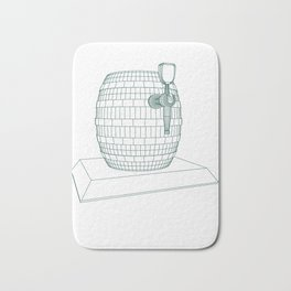 beer keg Bath Mat