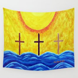 No Matter What Your Race Jesus Saves All By Grace By Annie Zeno Wall Tapestry