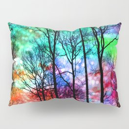 colorful abstract forest Pillow Sham