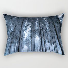 Snowy Winter Trees - Forest Nature Photography Rectangular Pillow