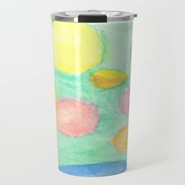 Blue Girl's Dreaming Bubbles Travel Mug