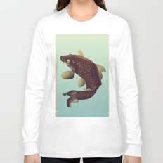 China Koi Vintage Stretched travel poster Long Sleeve T-shirt