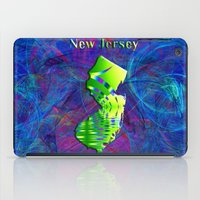 new jersey iPad Cases featuring New Jersey Map by Roger Wedegis