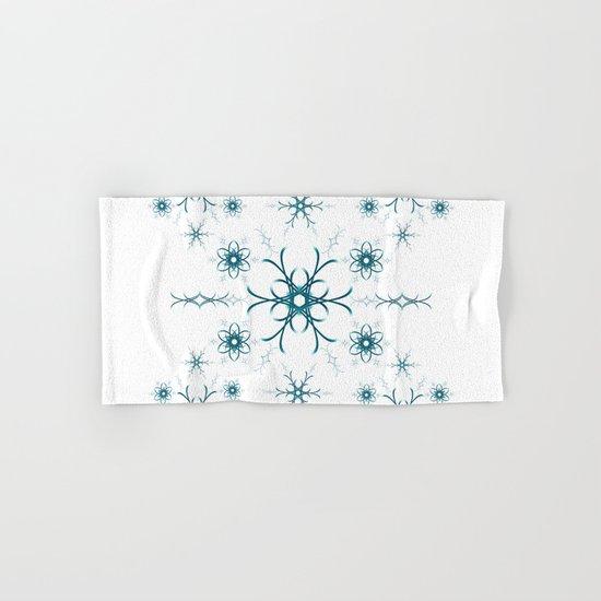 Blue flowers. Pattern. Hand & Bath Towel