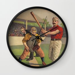 Softball Old Man Wall Clock