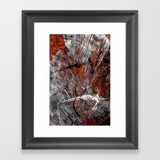 RED ARCHETYPAL STRUCTURES Framed Art Print