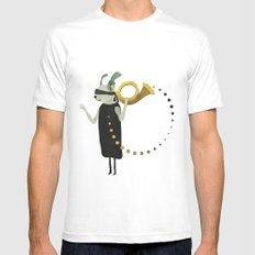 THE INTUITIVE QUEEN White Mens Fitted Tee MEDIUM