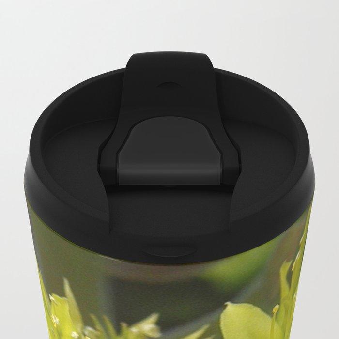 Blooming Green Metal Travel Mug