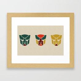 Tranformers in Colors Framed Art Print