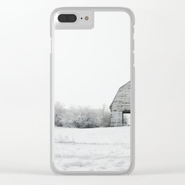The White Barn Clear iPhone Case