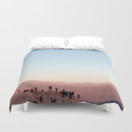 People Watching in the Moon Valley, Chile Duvet Cover