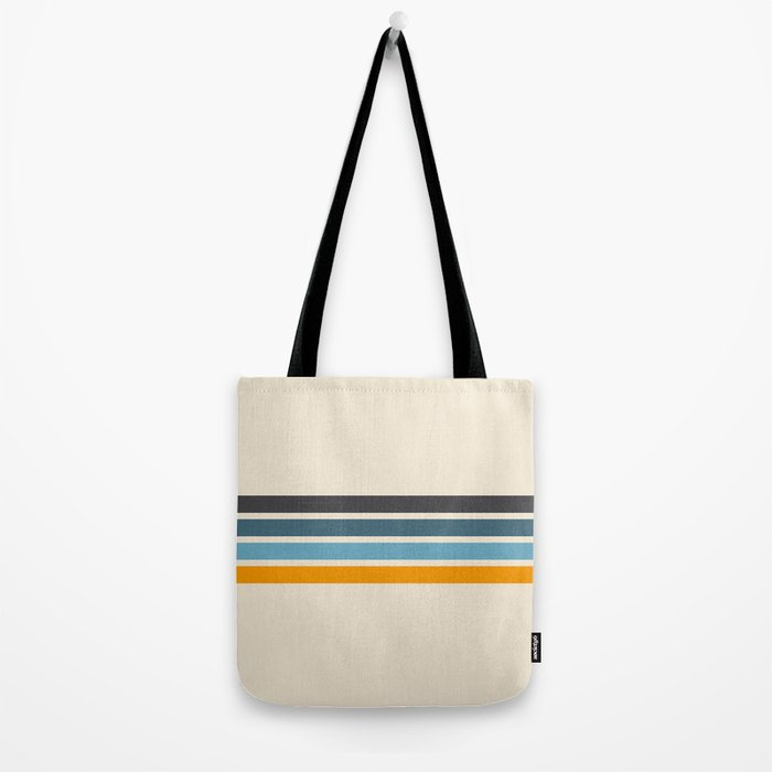 Vintage Retro Stripes Tote Bag