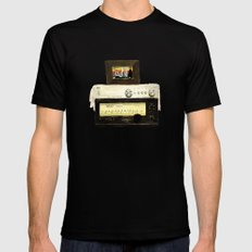 Stereo stack Mens Fitted Tee Black MEDIUM