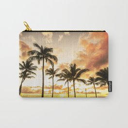 Typical Picturesque Waikiki Beach Sunset Carry-All Pouch