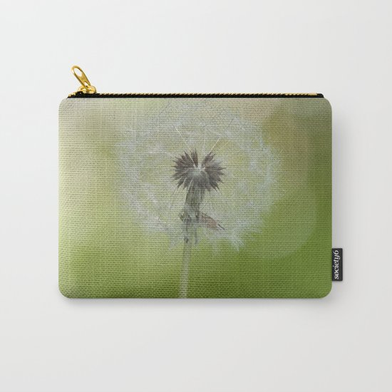 Dandelion in LOVE- Flower Floral Flowers Spring on #Society6 Carry-All Pouch