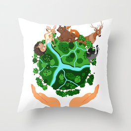 Climate Change Save The Planet Throw Pillow