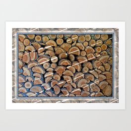FIREWOOD WAITING IN THE WOODSHED Art Print