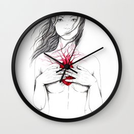 carry the cold heart home Wall Clock