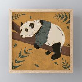 Sleepy Sunday Panda Framed Mini Art Print
