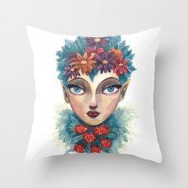 Spring Goddess Throw Pillow