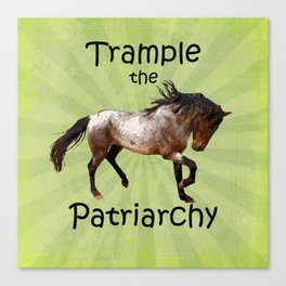 Trample the Patriarchy Canvas Print