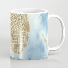 Charleston, South Carolina City Map Art Print Coffee Mug