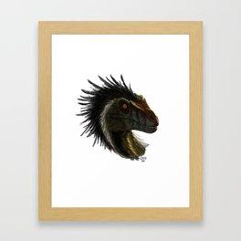 Raptor Head Framed Art Print