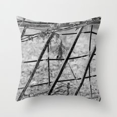 Shades of Fence Throw Pillow