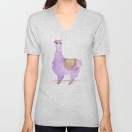 Hippie Llama Unisex V-Neck