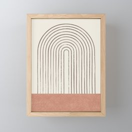 Arch Gray Pink Framed Mini Art Print