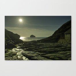 Trebarwith Strand Sunshine Canvas Print